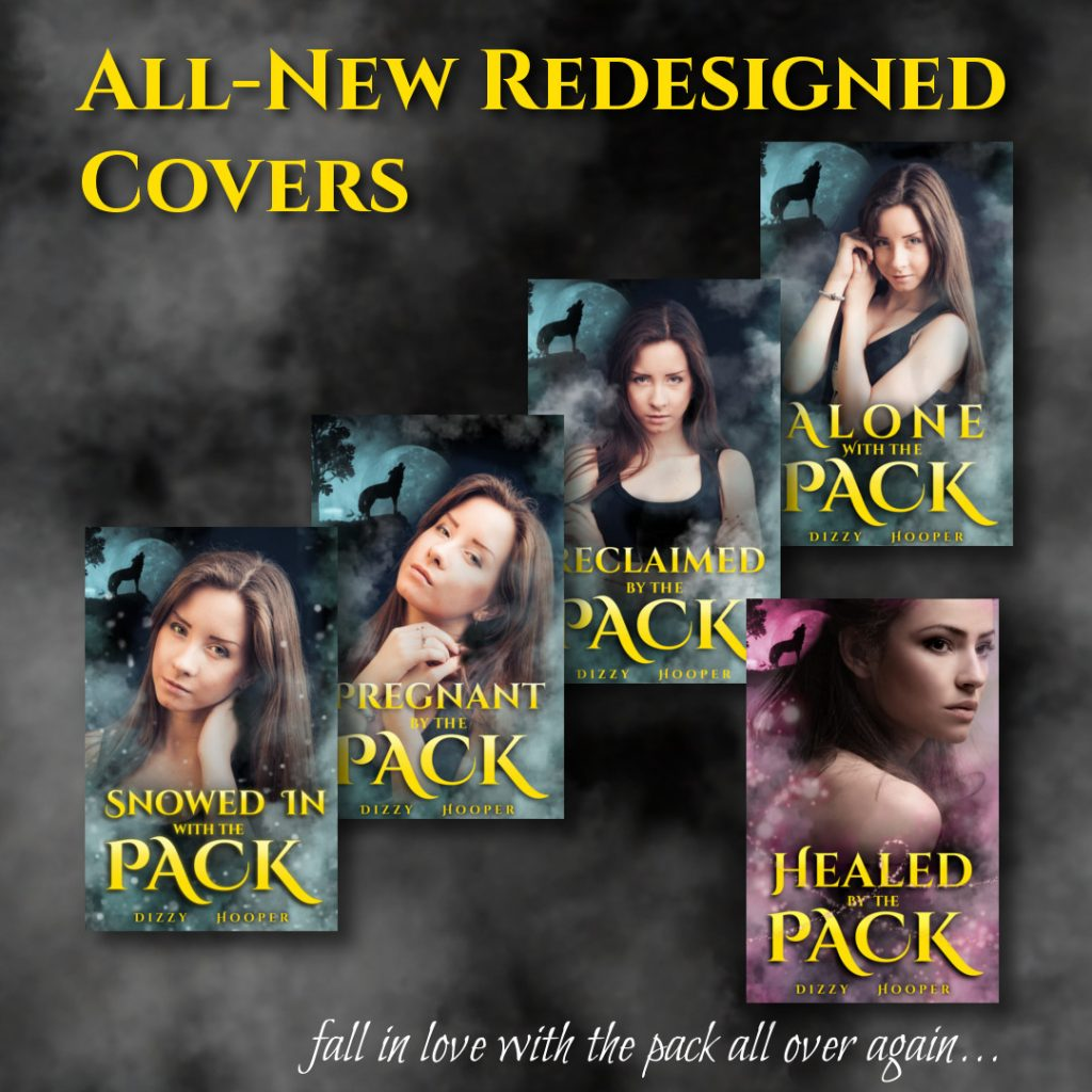 new covers for the Broken Ladder Wolf-Shifters series
